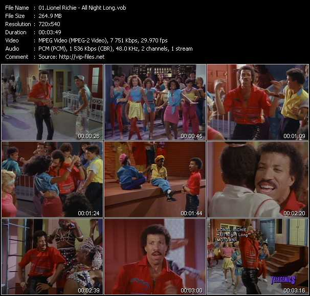 Lionel Richie video screenshot