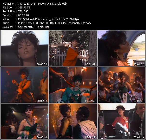 Pat Benatar video screenshot
