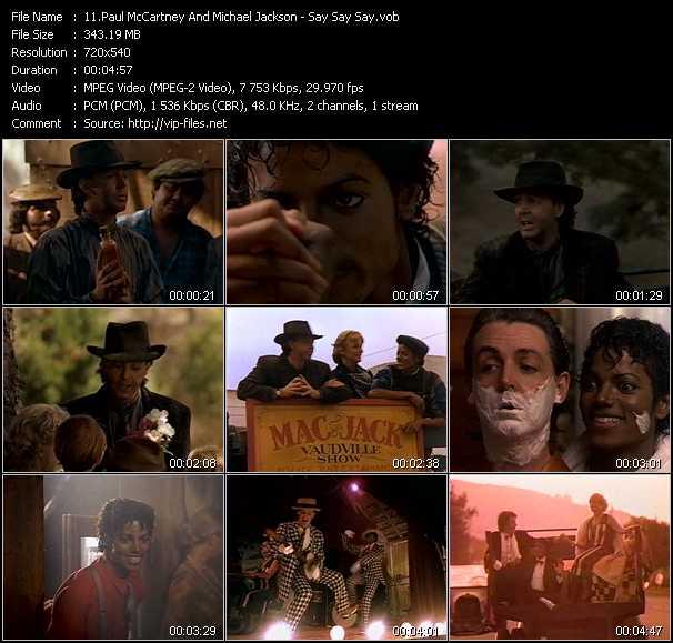 Paul McCartney And Michael Jackson video screenshot