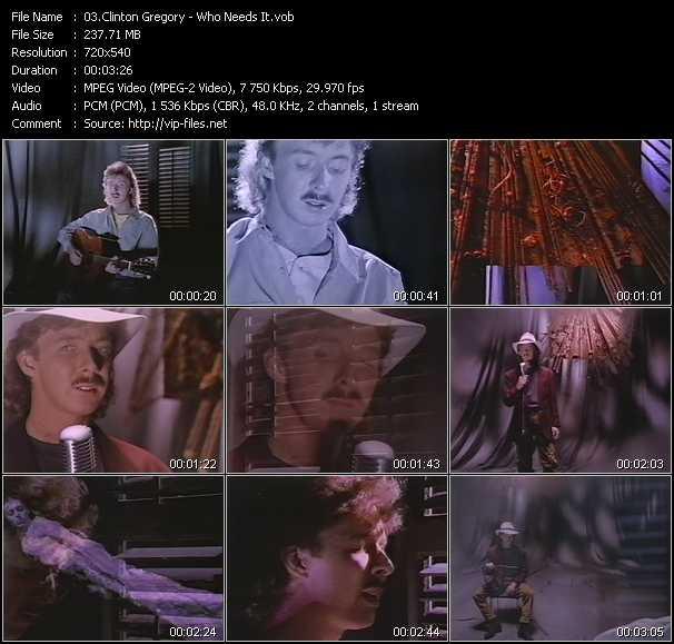 Clinton Gregory video screenshot