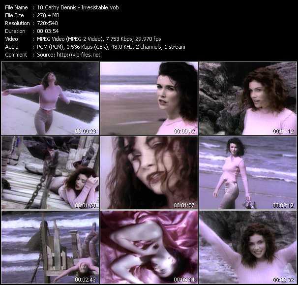 Cathy Dennis video screenshot