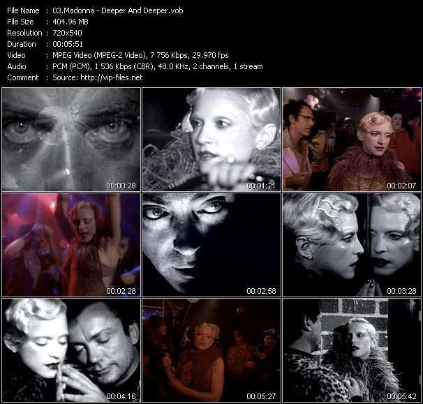 video Deeper And Deeper screen