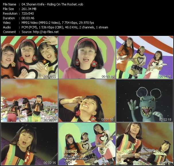 Shonen Knife video screenshot