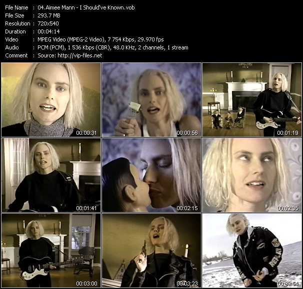 Aimee Mann video screenshot