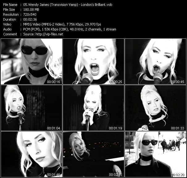 Wendy James (Transvision Vamp) video screenshot