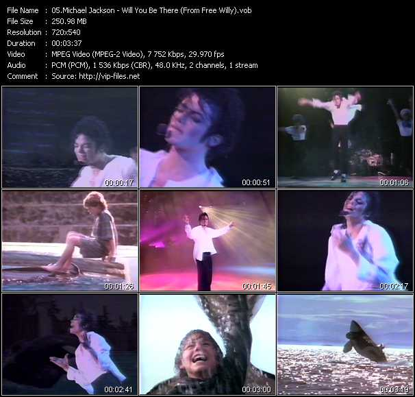video Will You Be There (From Free Willy) screen