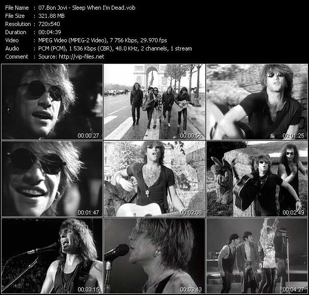 Bon Jovi video screenshot