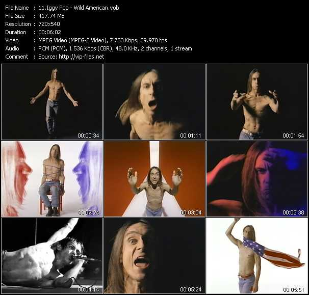 Iggy Pop video screenshot