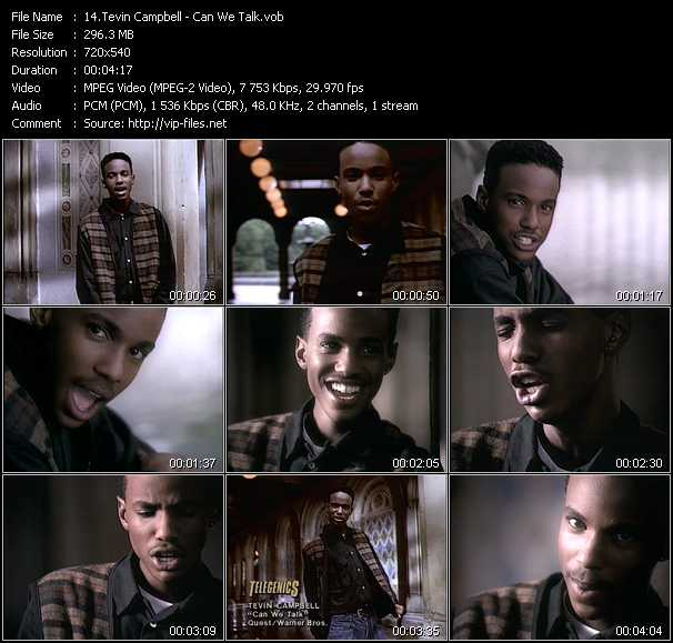 Tevin Campbell video screenshot