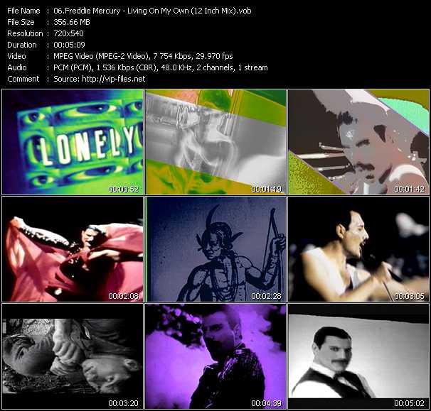 Freddie Mercury video screenshot