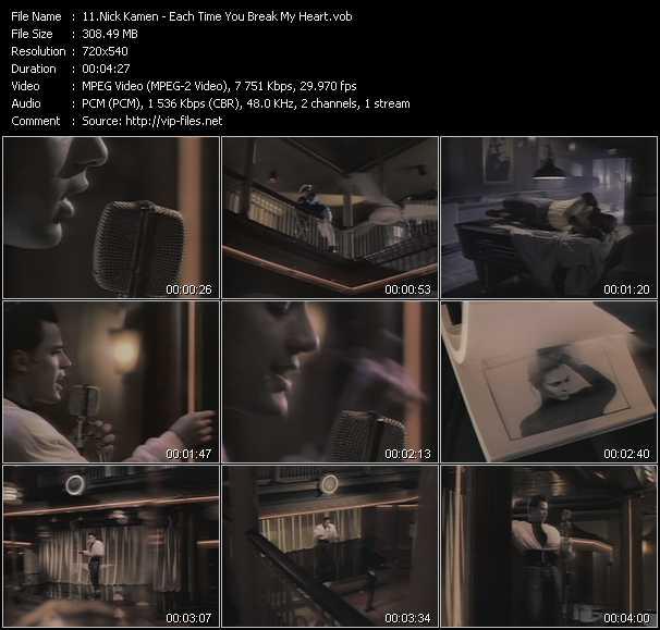 Nick Kamen video screenshot