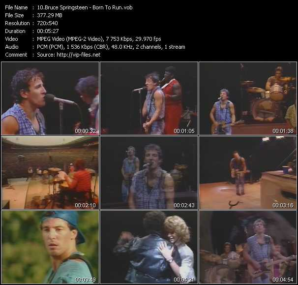 Bruce Springsteen video screenshot