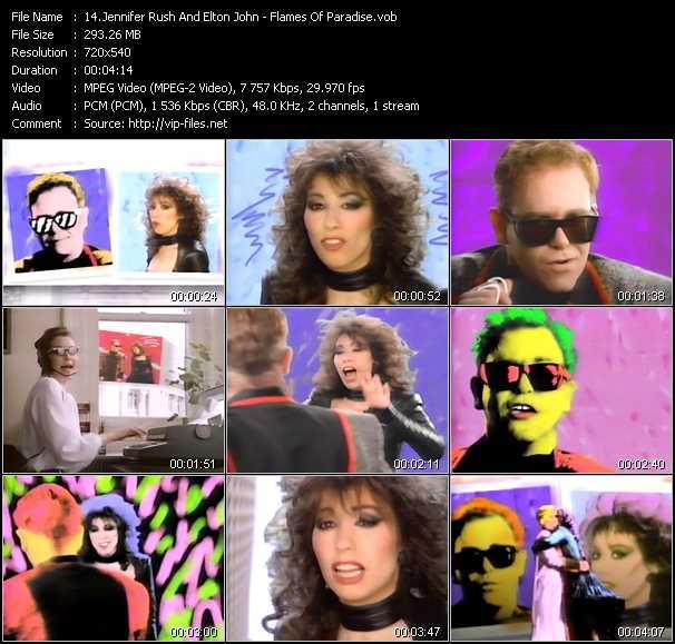 Jennifer Rush And Elton John video screenshot