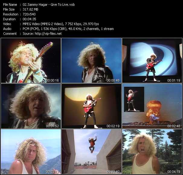 Sammy Hagar video screenshot