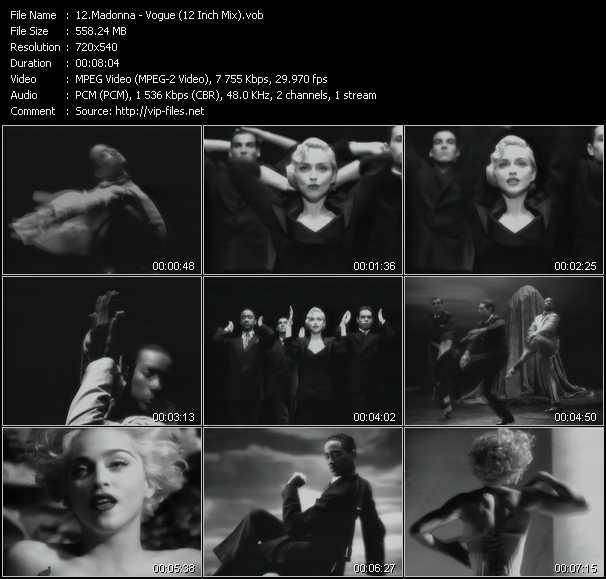 video Vogue (12 Inch Mix) screen
