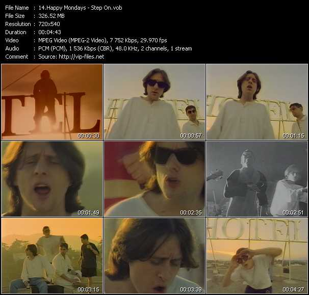 Happy Mondays video screenshot