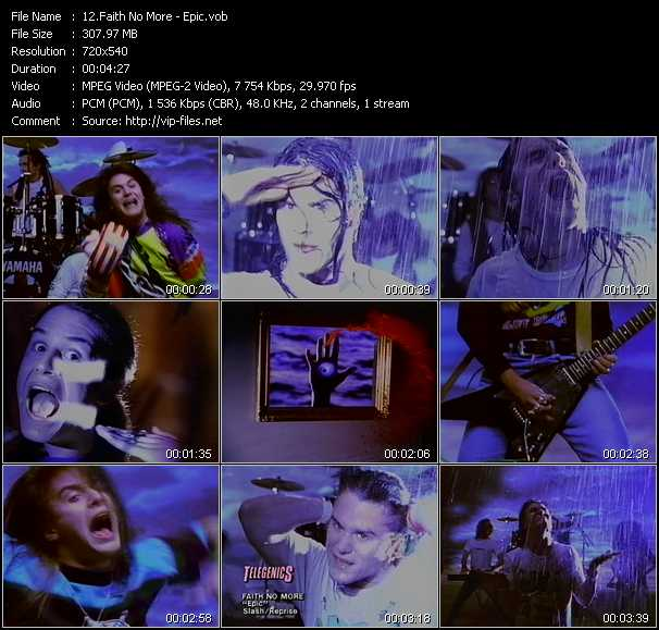 Faith No More video screenshot