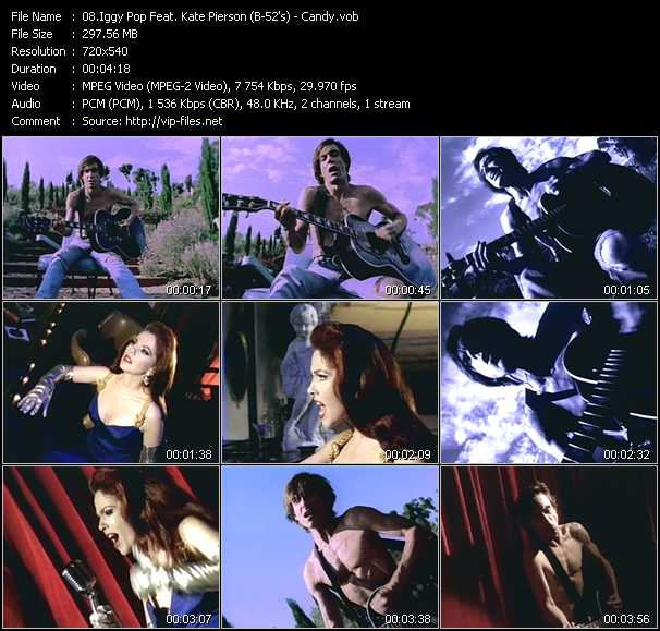 Iggy Pop Feat. Kate Pierson (B-52's) video screenshot