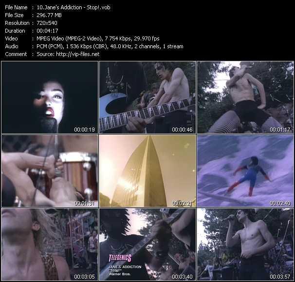 Jane's Addiction video screenshot