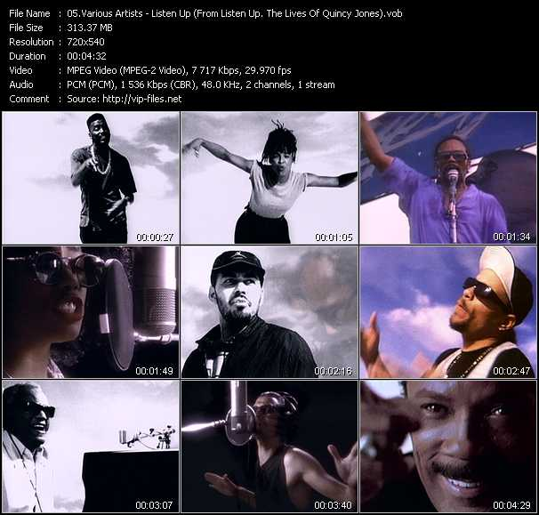 Various Artists (Big Daddy Kane, Ice-T, James Ingram, Karyn White, Grandmaster Mele Mel, Ray Charles, Siedah Garrett) video screenshot