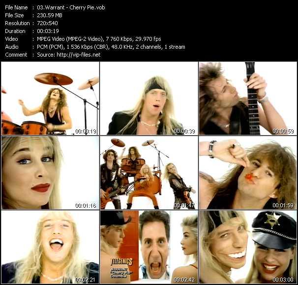 Warrant video screenshot