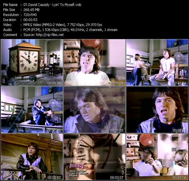David Cassidy video screenshot