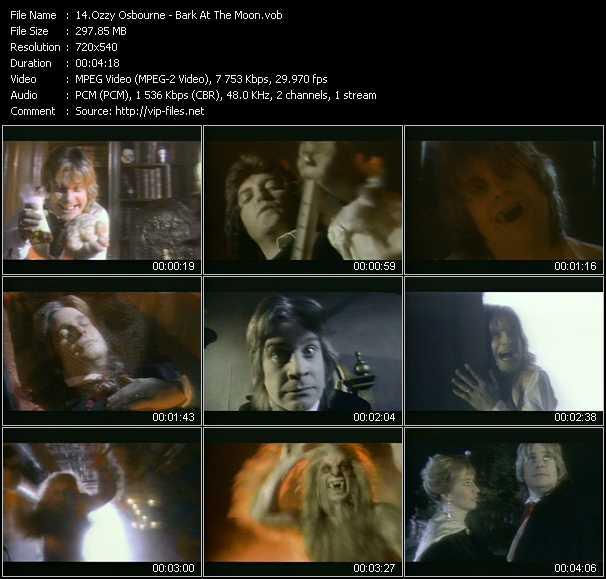 Ozzy Osbourne video screenshot