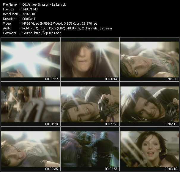Ashlee Simpson video screenshot