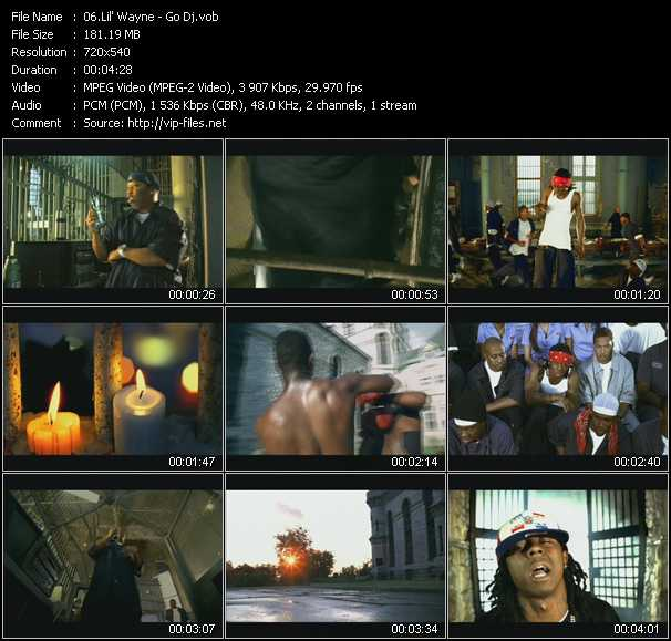 Lil' Wayne video screenshot