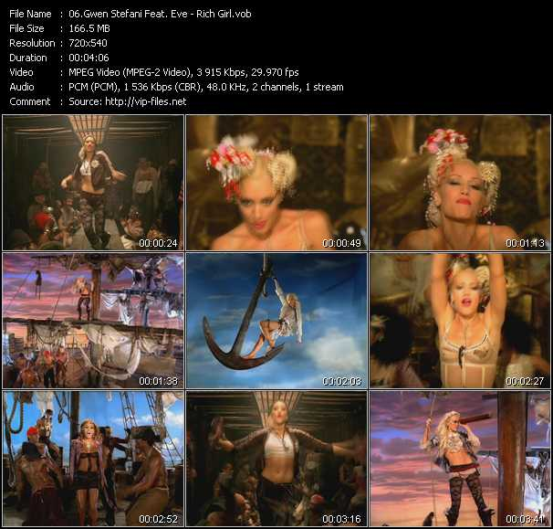 video Rich Girl screen