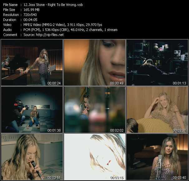 Joss Stone video screenshot