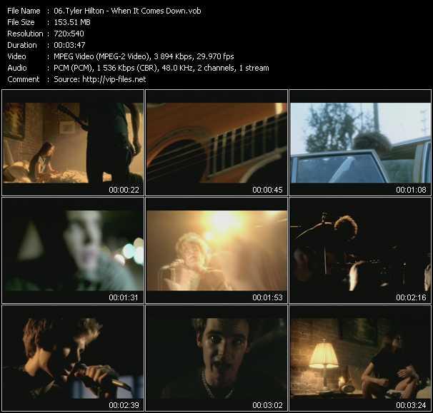 Tyler Hilton video screenshot