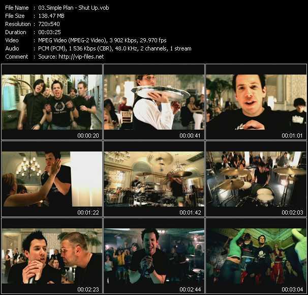 Simple Plan video screenshot