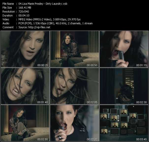 Lisa Marie Presley video screenshot