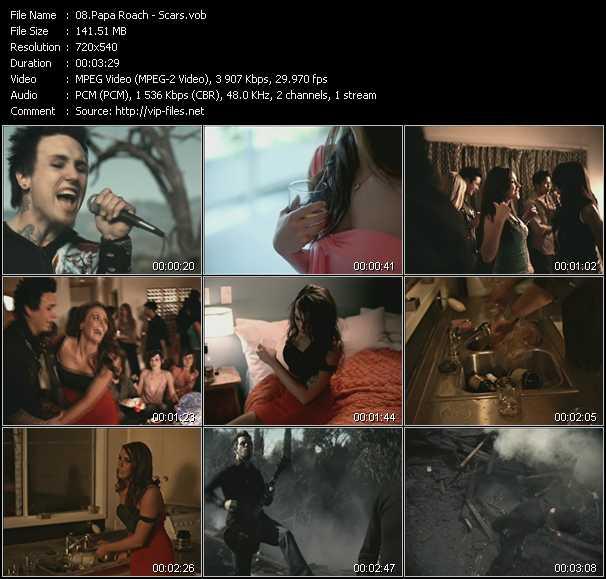 Papa Roach video screenshot