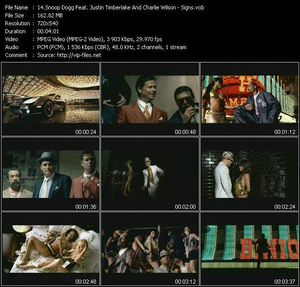 Snoop Dogg Feat. Justin Timberlake And Charlie Wilson video screenshot