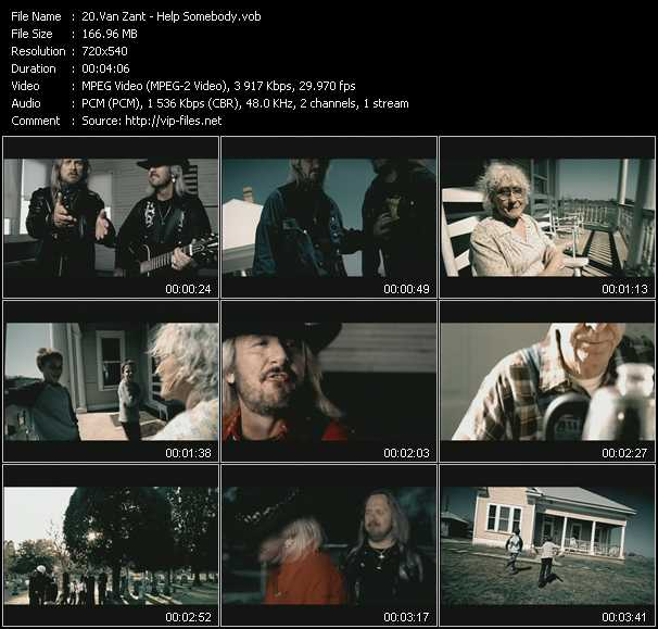 Van Zant video screenshot