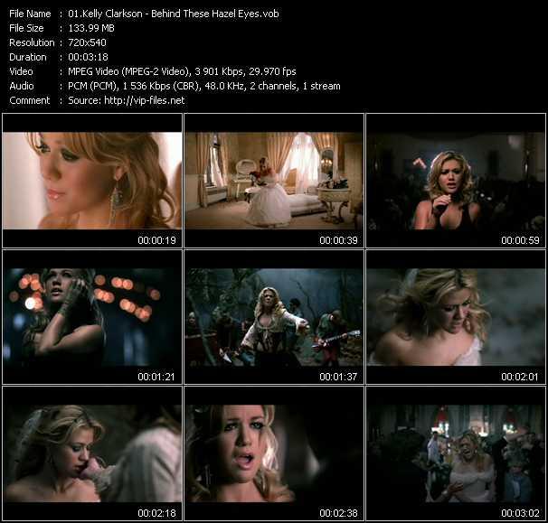 Kelly Clarkson video screenshot