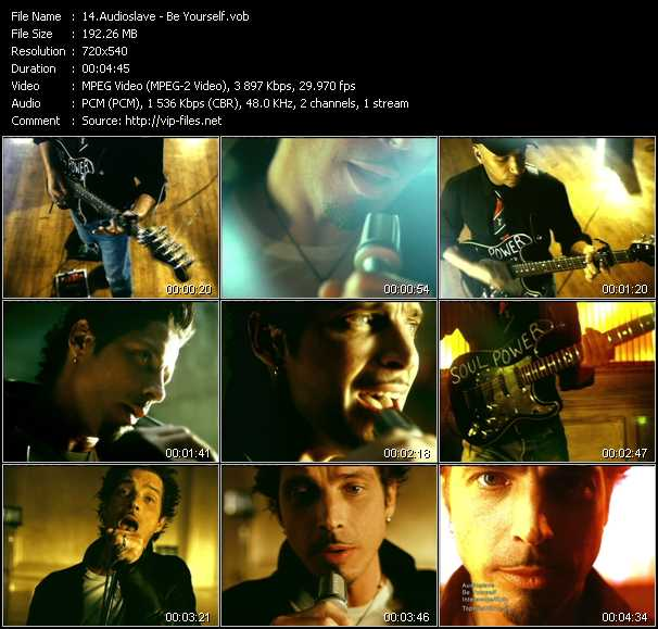Audioslave video screenshot