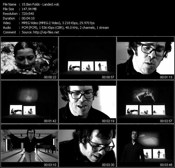 Ben Folds video screenshot