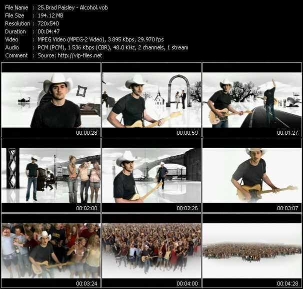 Brad Paisley video screenshot