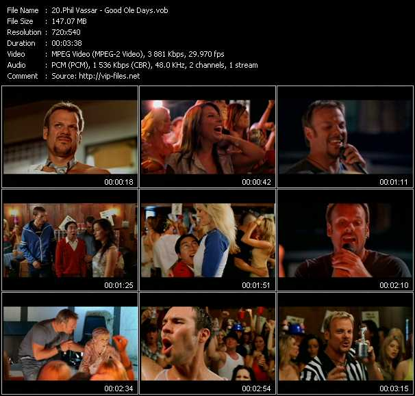 Phil Vassar video screenshot