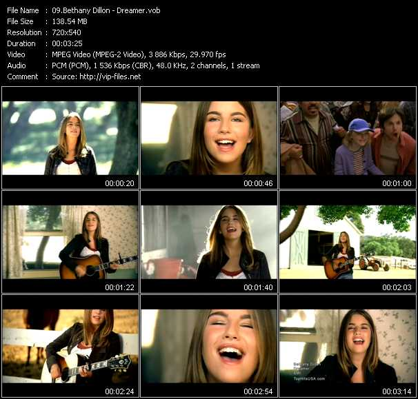 Bethany Dillon video screenshot
