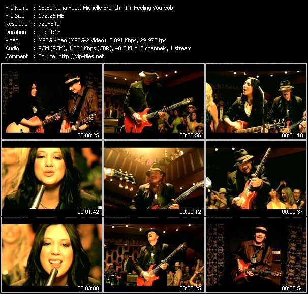 Santana Feat. Michelle Branch video screenshot