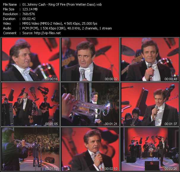 Johnny Cash video screenshot