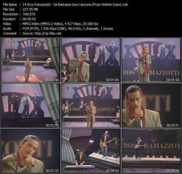 Eros Ramazzotti video screenshot