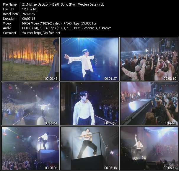 video Earth Song (From Wetten Dass) screen
