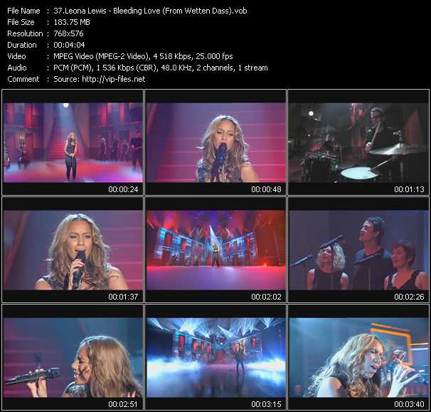 Leona Lewis video screenshot