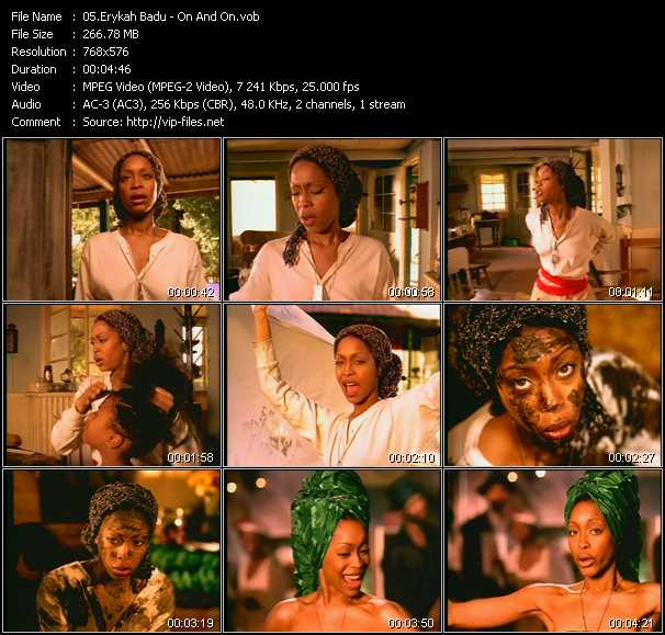 Erykah Badu video screenshot