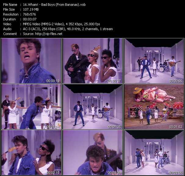 Wham! video screenshot